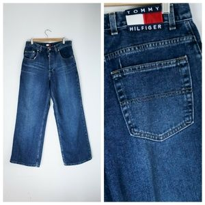 90s Tommy Hilfiger Wide Leg Relaxed Fit Jeans